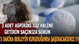 3 Adet Aspirini Toz Haline Getirin Saçınıza Sürün 5 Dakika Bekleyin Kuruduğunda Şaşıracaksınız !!!!